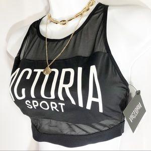 Victoria's Secret Sport Mesh Long Line Bra New S